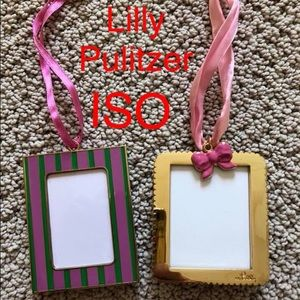 ISO Lilly Pulitzer ornament frames